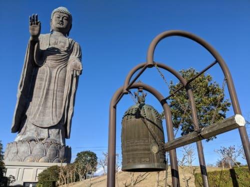 Ushiki Daibutsu, the Giant Buddha Statue with Bell