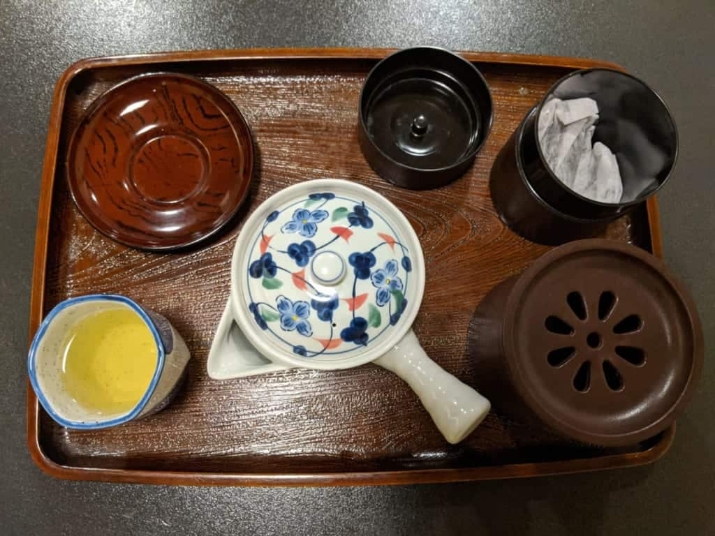 In-Room Tea Set at Tsukubasan Edoya