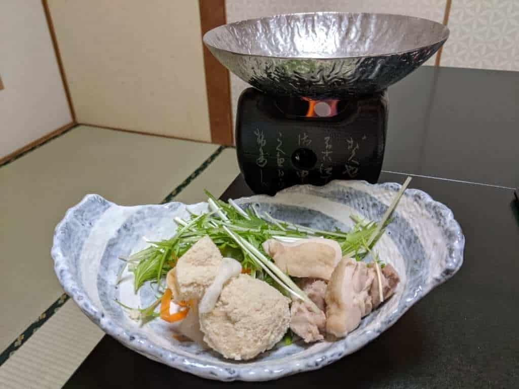 Dinner Nabe at Tsukubasan Edoya