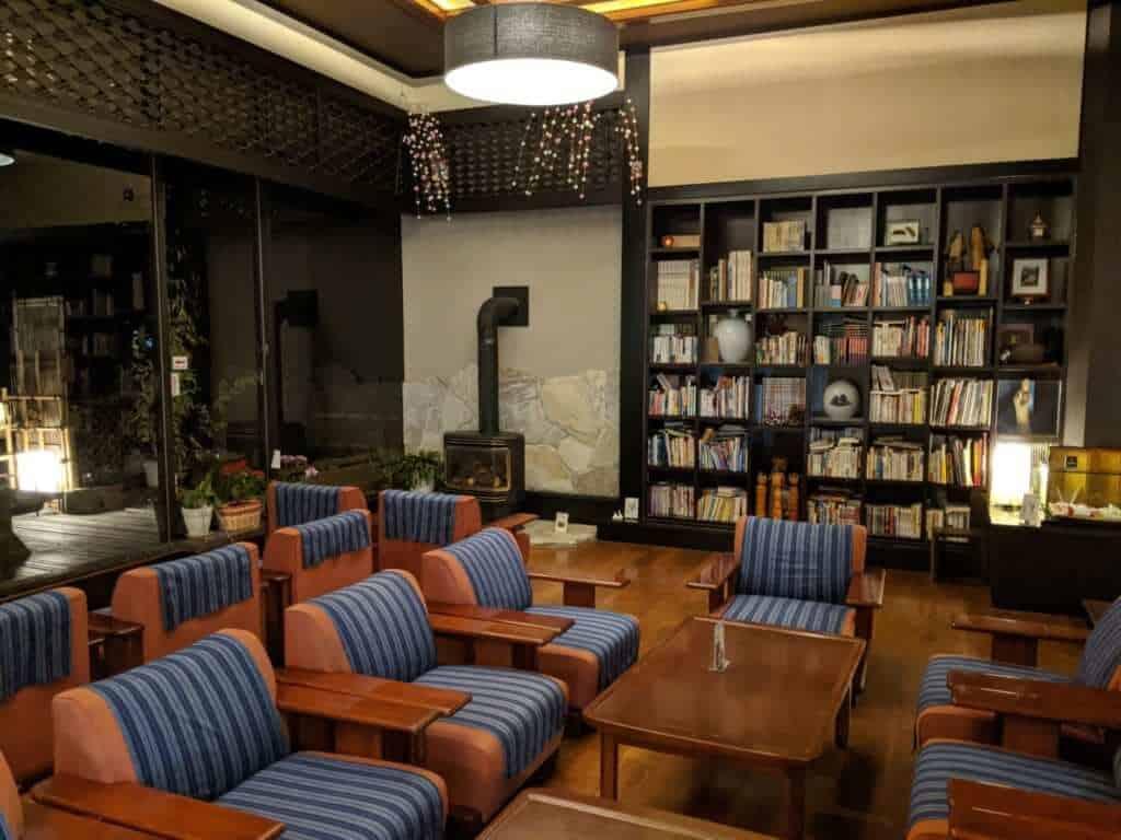 Sitting Room in the Lobby of Tsukubasan Edoya
