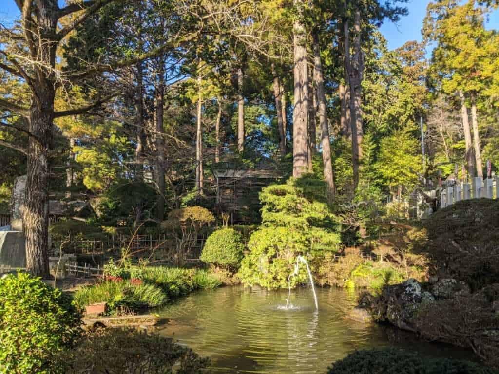 Pond at Tsukuba Shrine