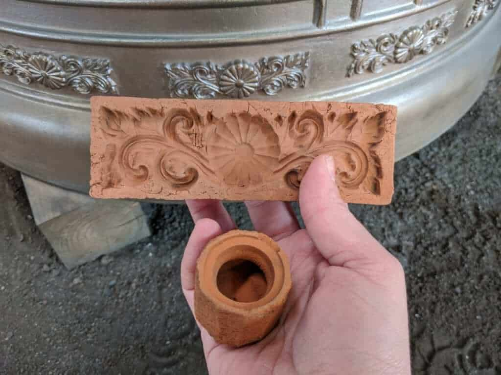 A Clay Mold for Making Bells at Kotabe Foundry