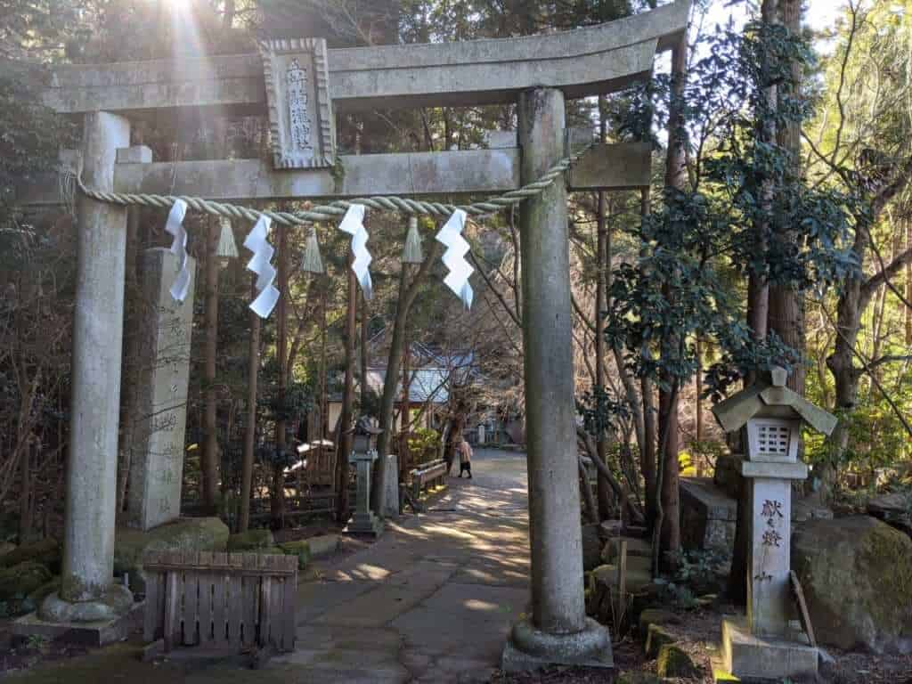 Gosho Komagataki Shrine in Sakuragawa