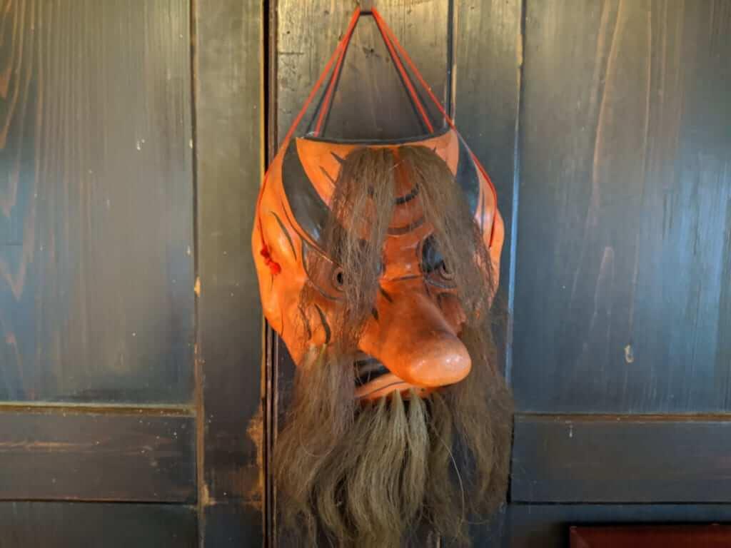 Tengu Mask at Gosho Komagataki Shrine