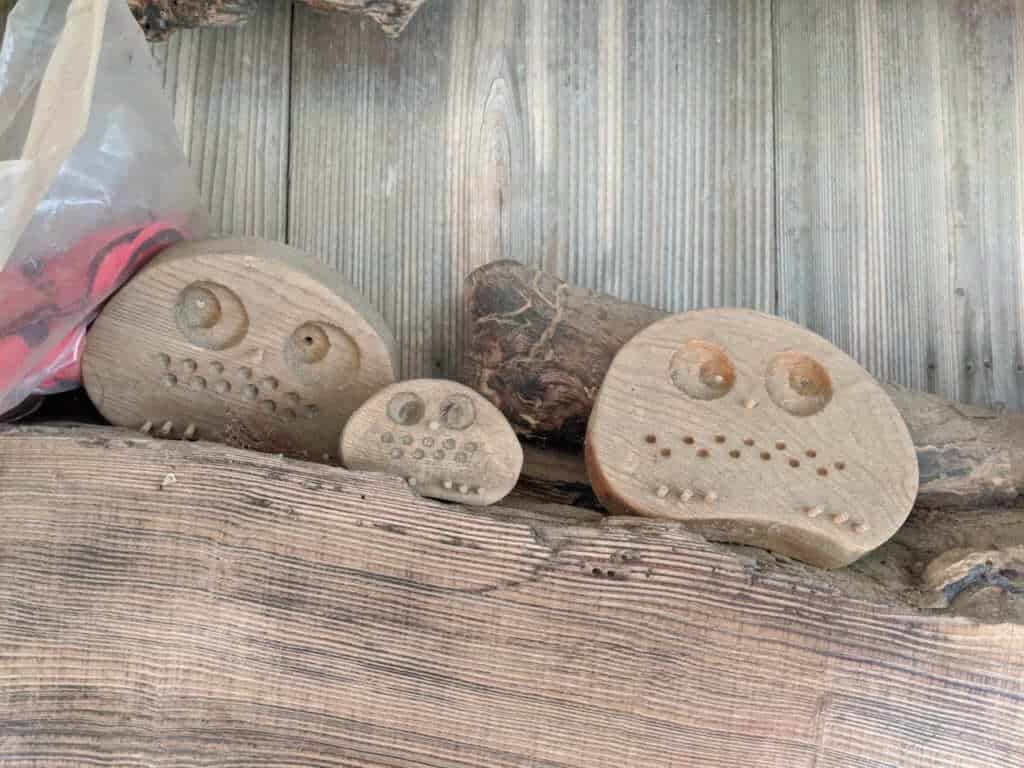 Owl Statues at Gosho Komagataki Shrine