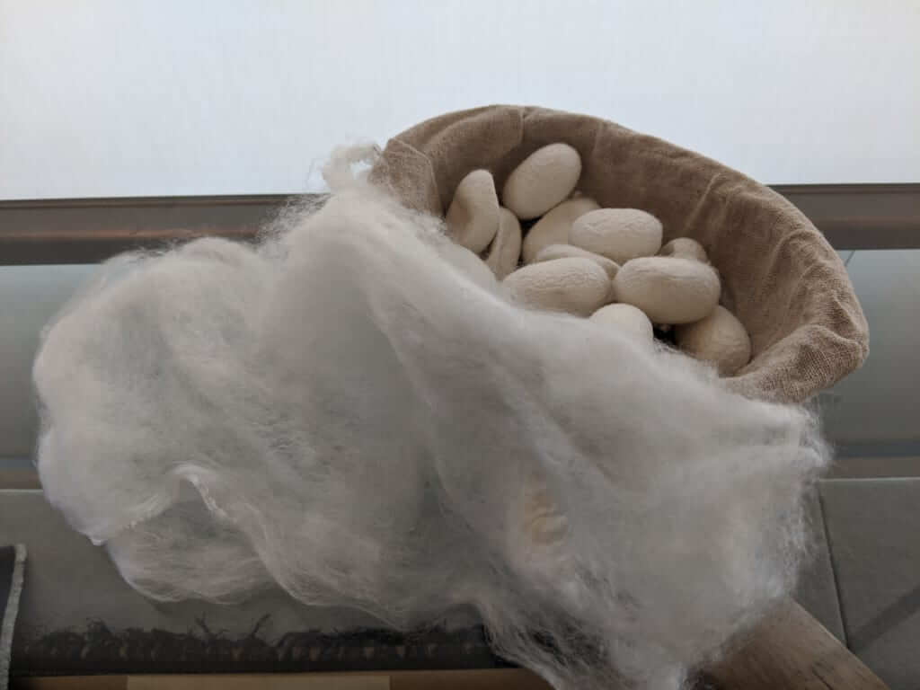 Silk Cocoons and Thread in Yuki, Ibaraki