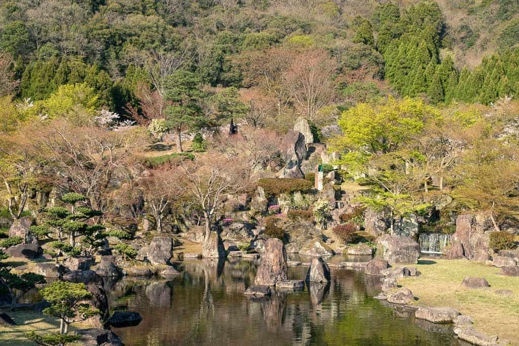 Traditional Japanese rock gardens of Keiseki Park