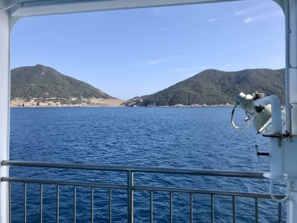 View from the boat to Fukuoka
