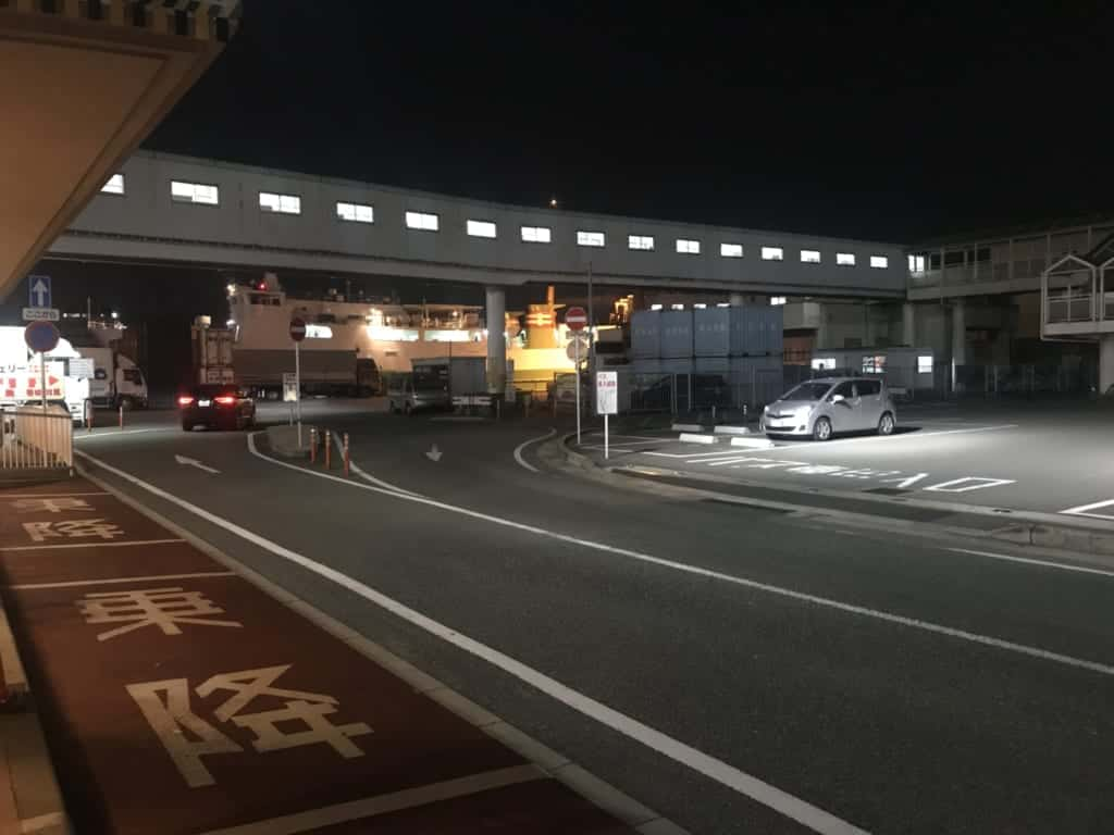 Outside the port of Hakata in Fukuoka