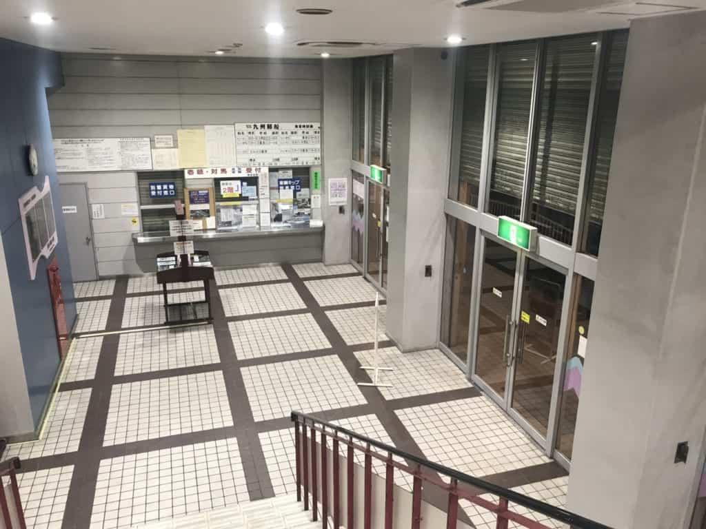Entrance hall of the port of Hakata in Fukuoka