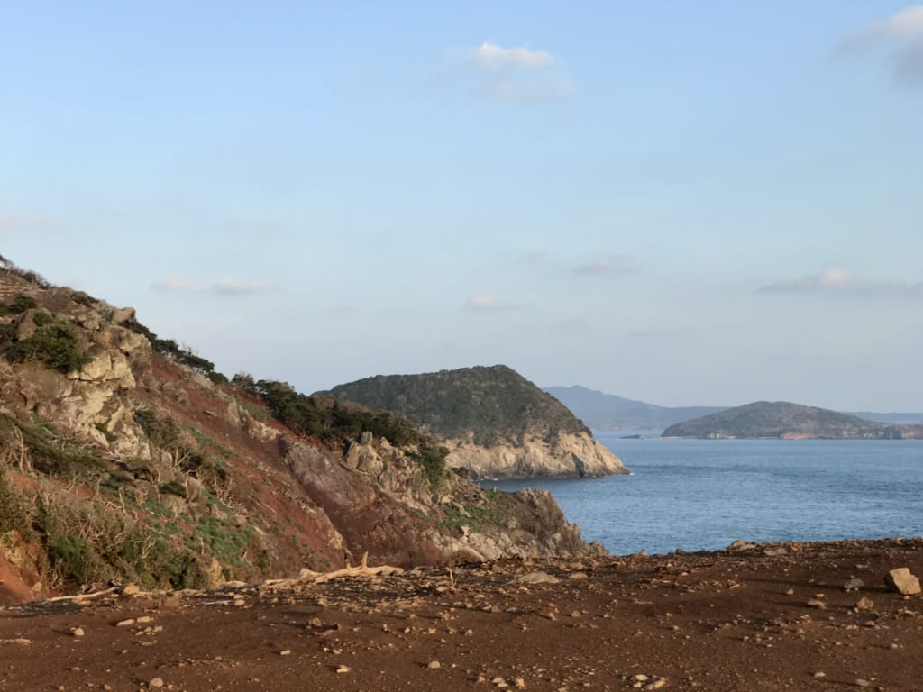 Wild coast on Nozaki Island