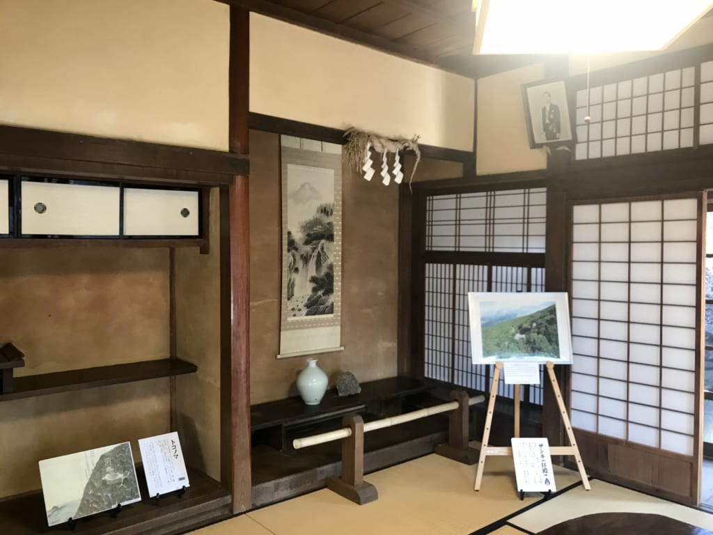 Inside the former house of the priest on Nozaki Island