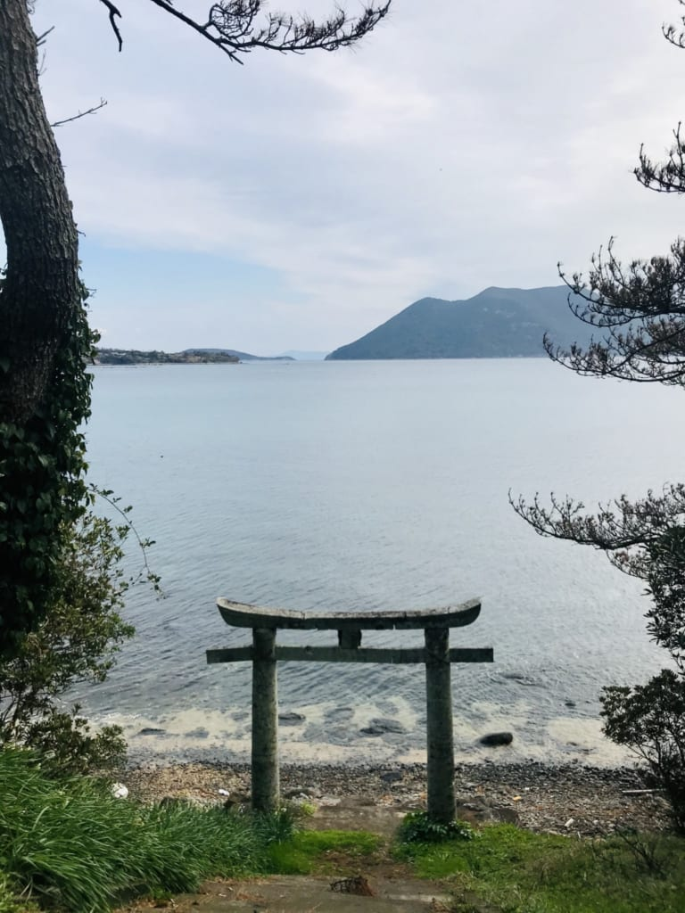 Torii on the seaside of Ojika Island