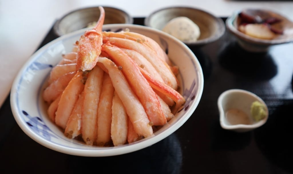 Fresh crab lunch at the Michi-No-Eki in Oga