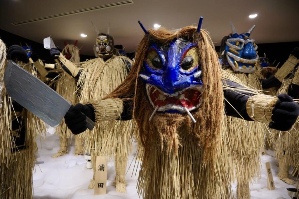 Namahage models in the Namahage Museum