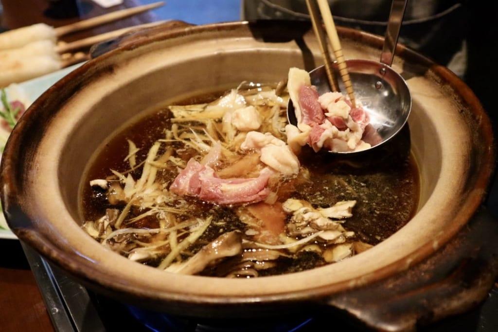 The kiritanpo nabe hot pot