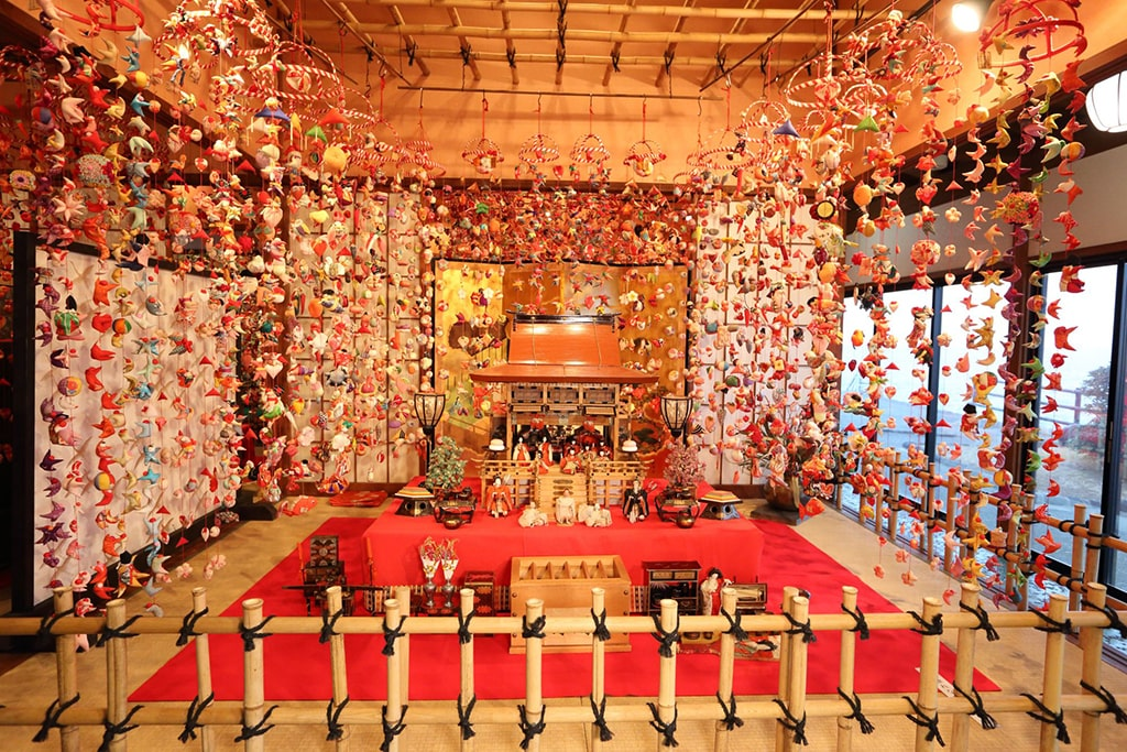 Rich display for Hina Matsuri exhibited in Shizuoka, Japan