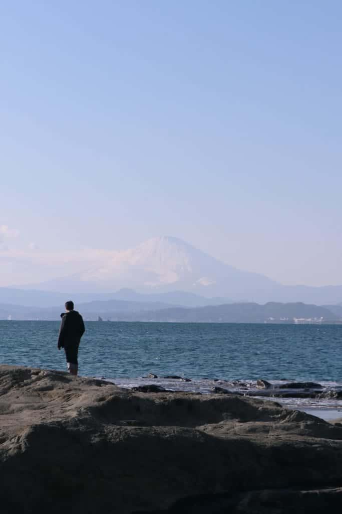 Mount Fuji in Enoshima, Fujisawa, Kanagawa, Japan