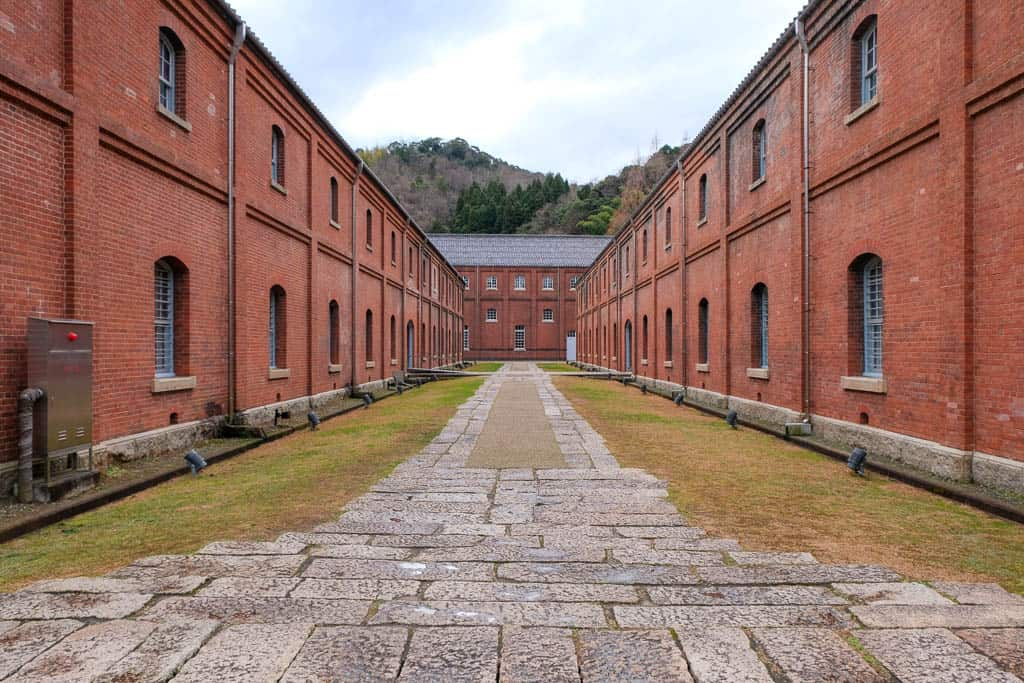 "A view between Maizuru Chiegua ""Widsom Warehouse"" and Brick Park Building No. 4"