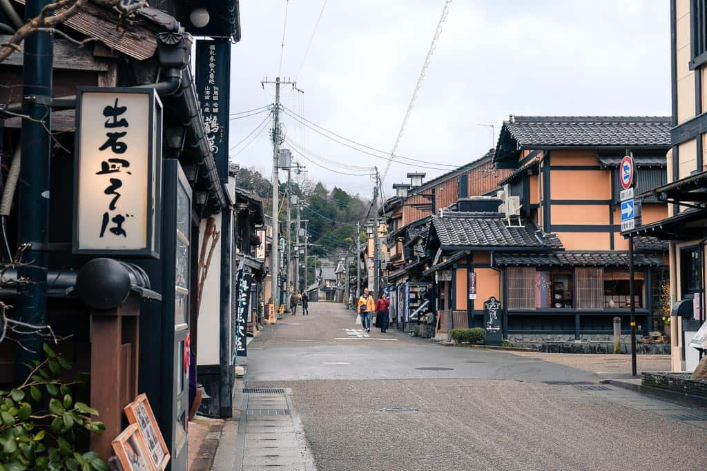 Japanese Street view at Izushi Castle Town, Japan
