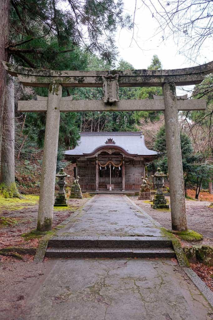 Shrine at Izushi Castle ruins in Hyogo