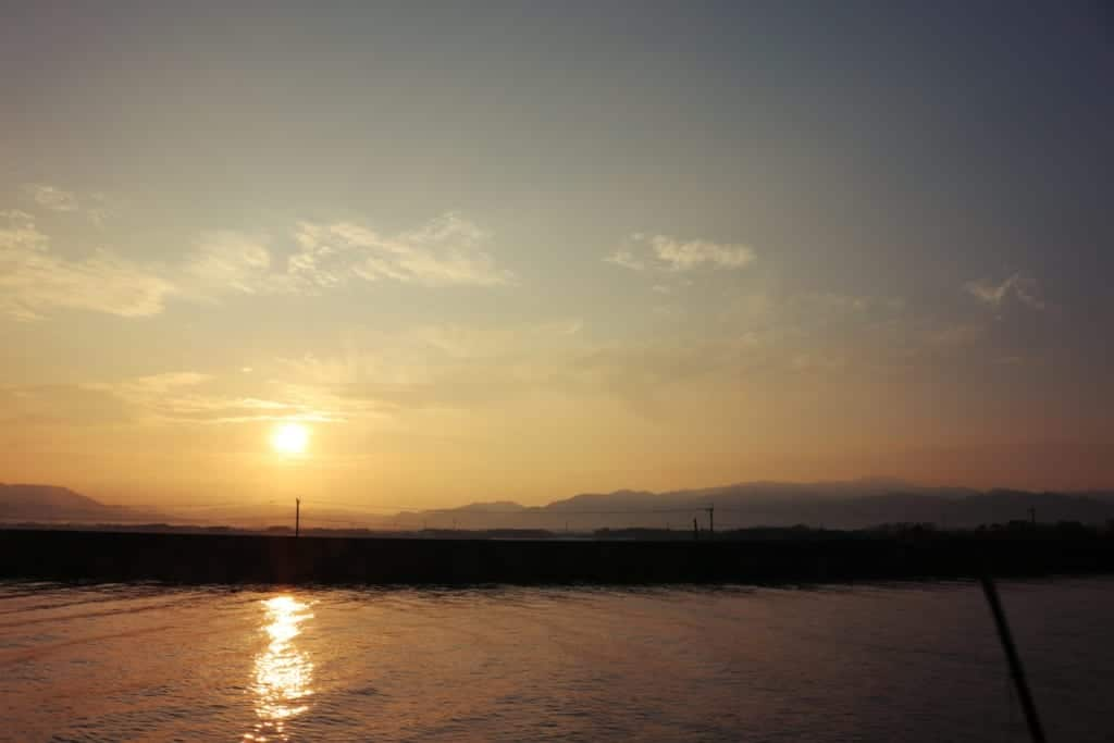 Sunset in Izumi, Kagoshima, Japan