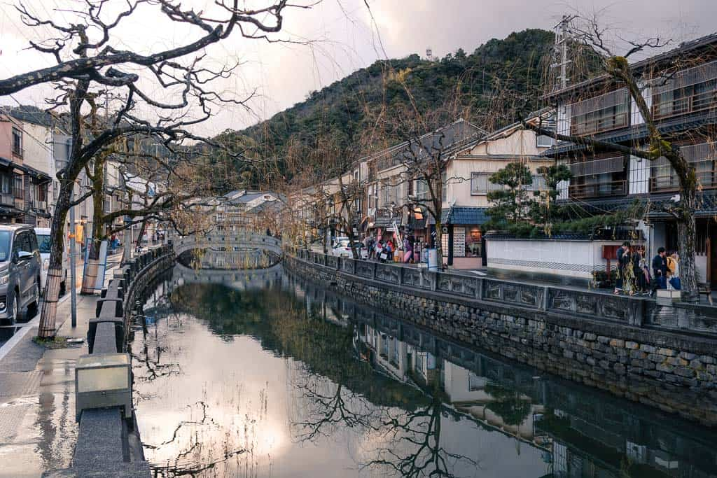 Willow Trees along the Canal in Kinosaki onsen