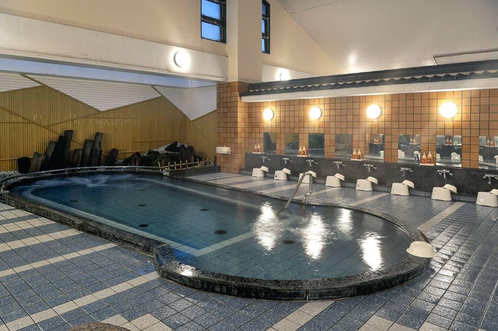 indoor of one of 7 public onsen hot springs in Kinosaki Onsen, Japan