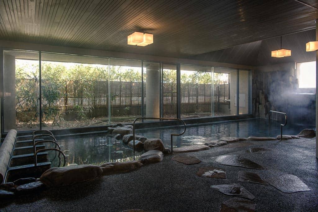 interior of one of 7 public onsen hot springs in Kinosaki Onsen, Japan