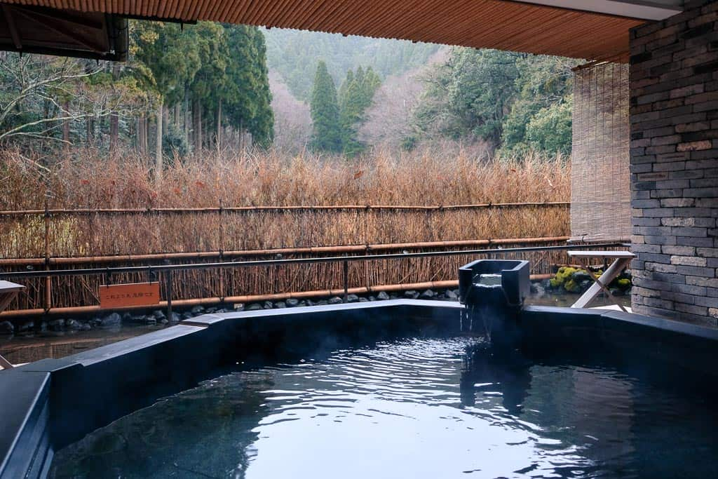 "Private spa view from ""Rinsen"" in Kinosaki Onsen"
