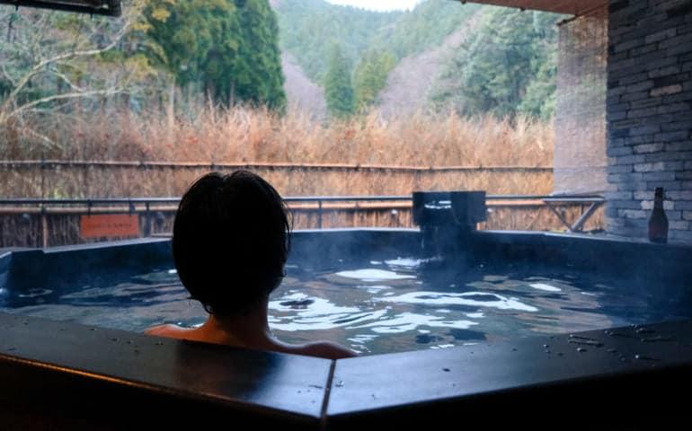 Mika at A Private Onsen Spa at Nishimuraya Hotel Shogetsutei