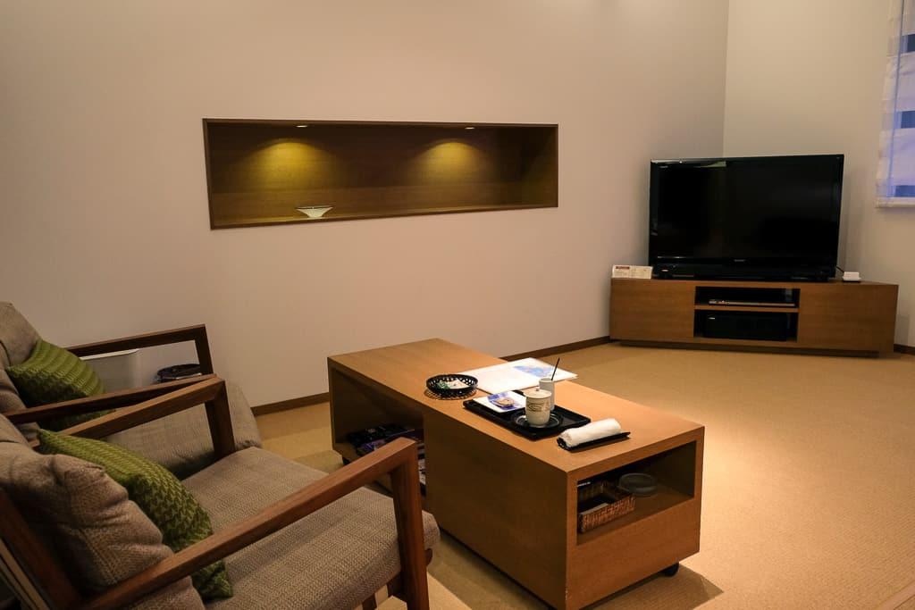luxury living room at Nishimuraya Hotel Shogetsutei, kinosaki onsen