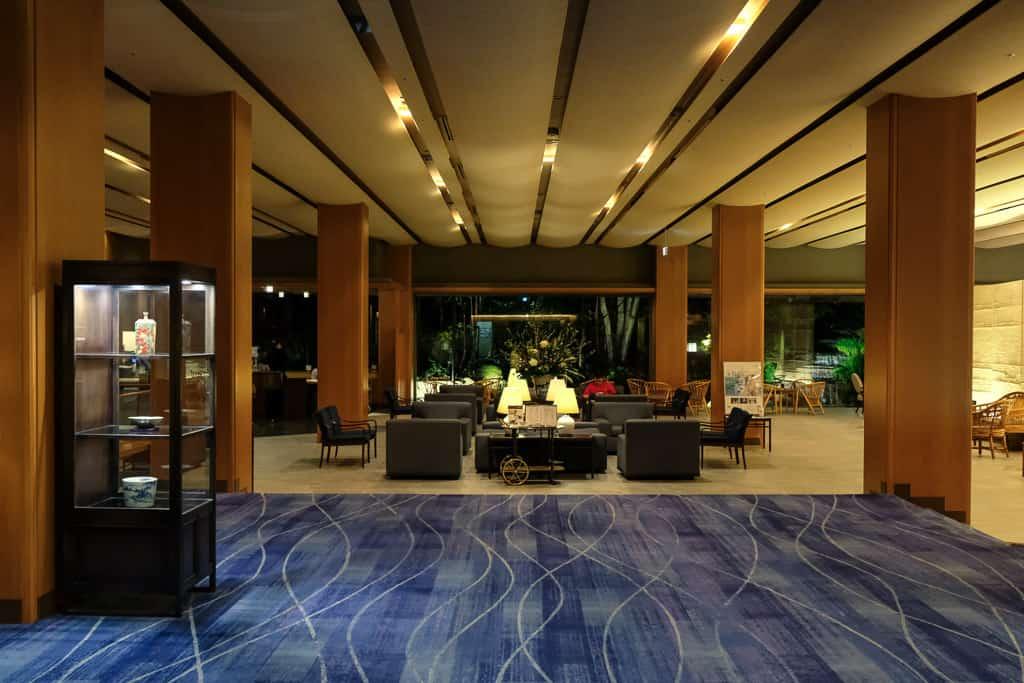 Lobby at Nishimuraya Hotel Shogetsutei, kinosaki onsen, JApan