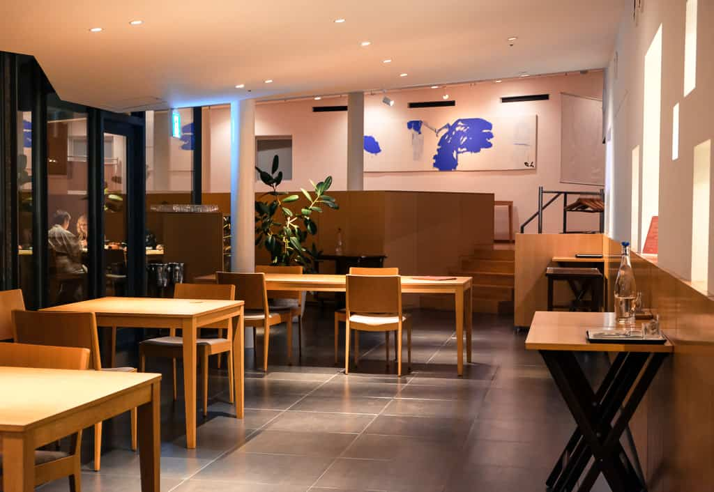 Nicca Restaurant interior in Nishimuraya Hotel Shogetsutei, kinosaki onsen