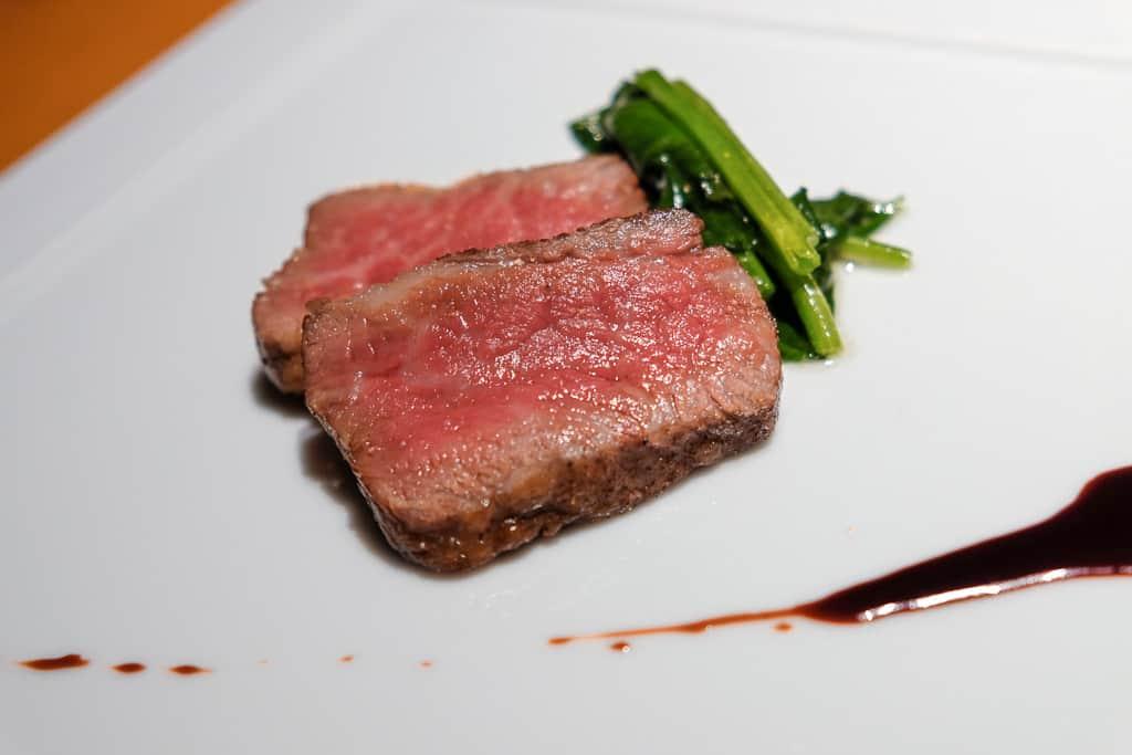 delicious tajima beef, a local specialty in Kinosaki Onsen, Japan