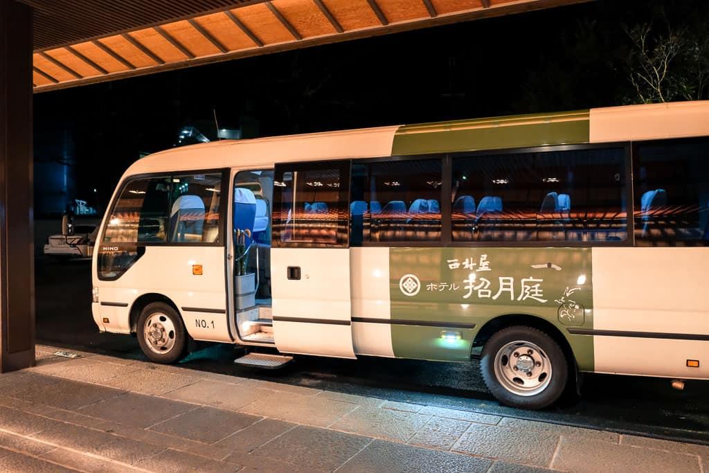 shuttle bus to the hot spring onsen hop in Kinosaki Onsen in Japan