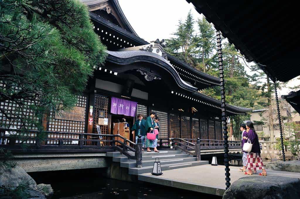 one of 7 public onsen hot springs in Kinosaki Onsen, Japan
