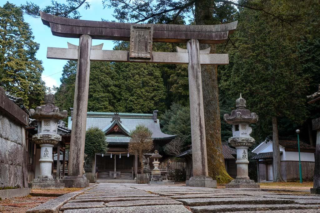 Temple gate at Kuchiganaya Mining Town