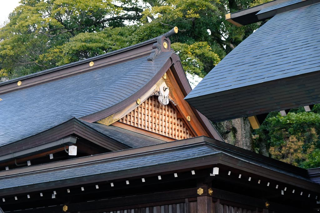 Traditional Japanese temple detail in Japan