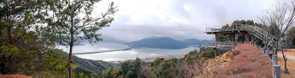 viewpoint at Nariai-ji Temple of amanohashidate, one of Japan's top scenic spots