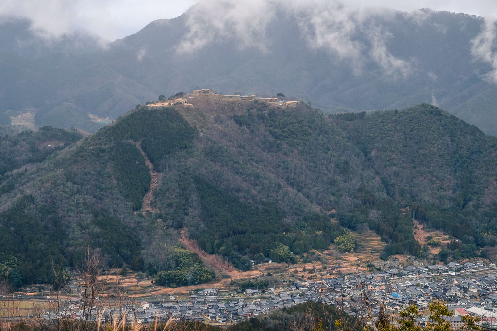View of Takeda Castle Ruins
