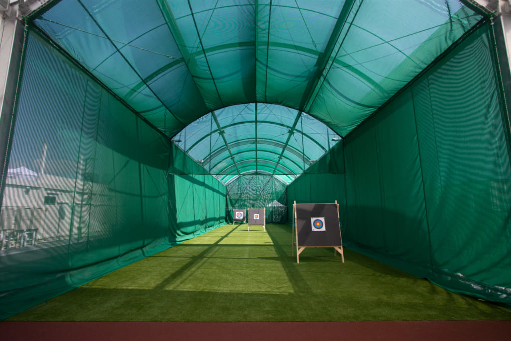 Archery range at Sporu in Shinagawa