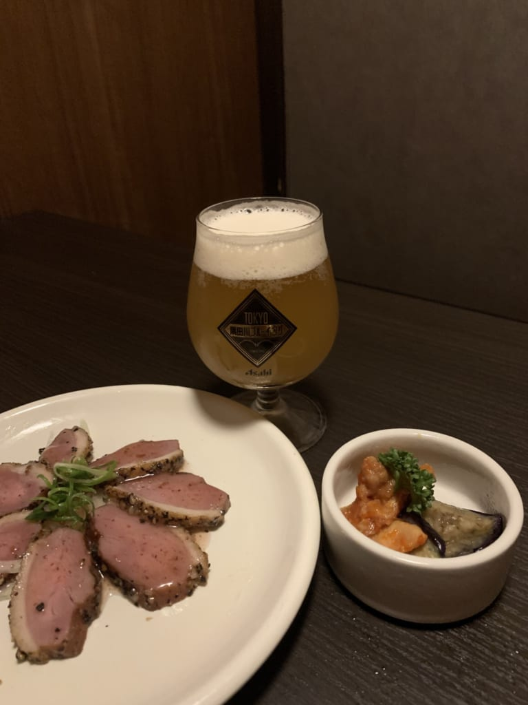 Food and craft beer at Tokyo Craft Brewery