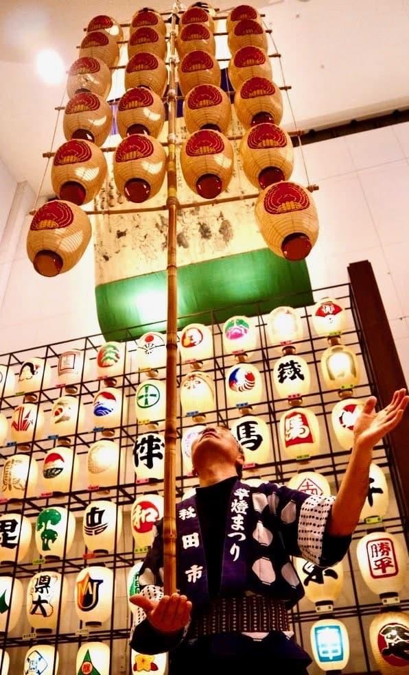 Balancing lanterns in Akita