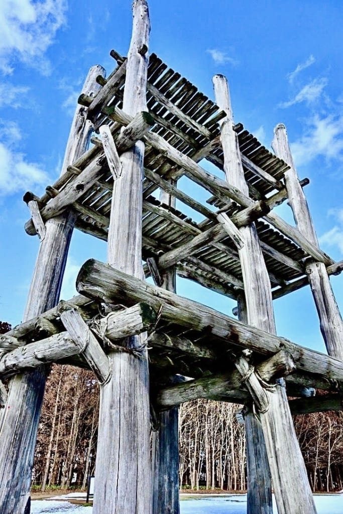 Pillars of the tower at Sannai Maruyama