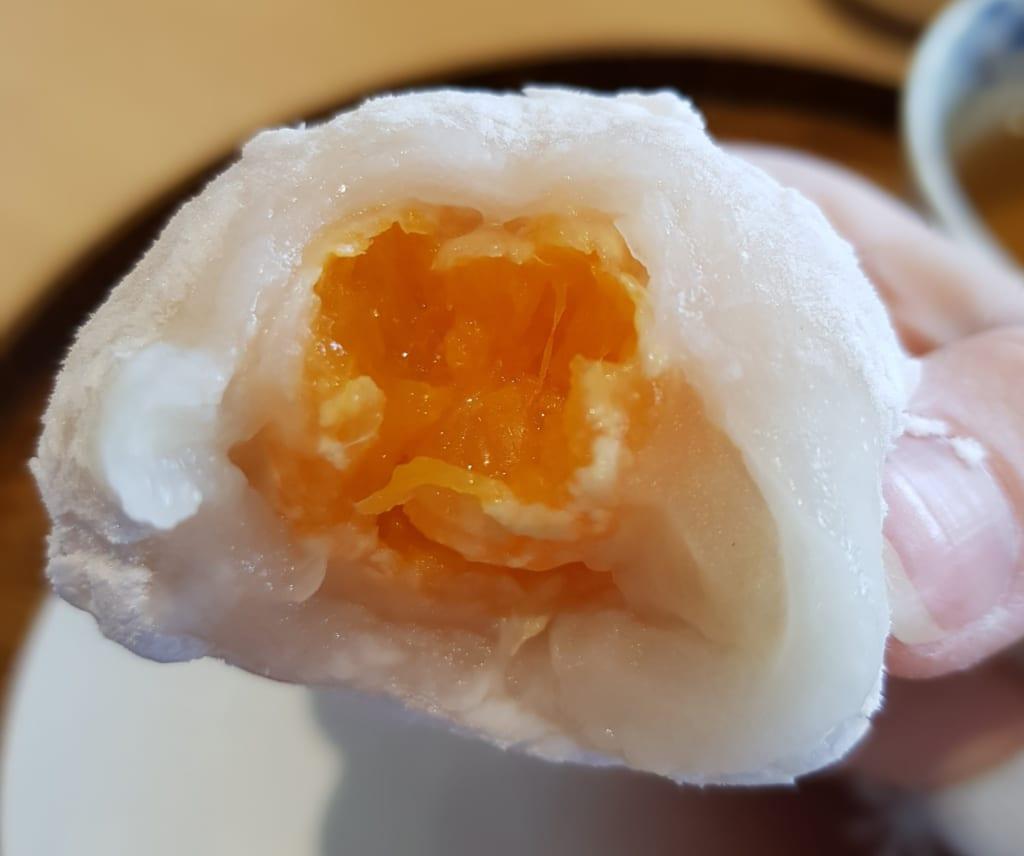 Handmade Mikan Daifuku in Toon city.