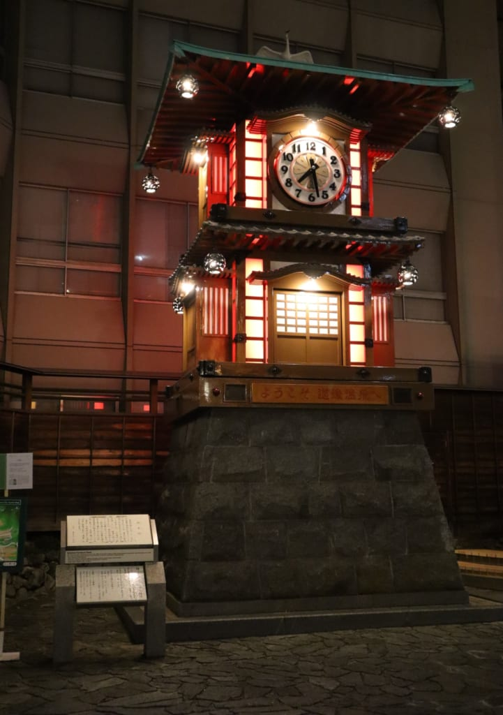 Botchan Automaton Clock at Dogo Onsen tram station.