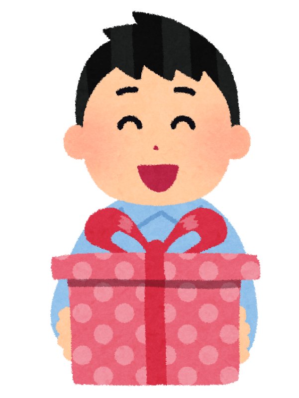arigatou gozaimasu when receiving a gift
