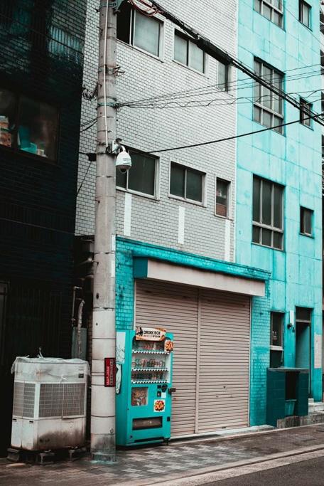 Blue shop in Nishinari, Osaka
