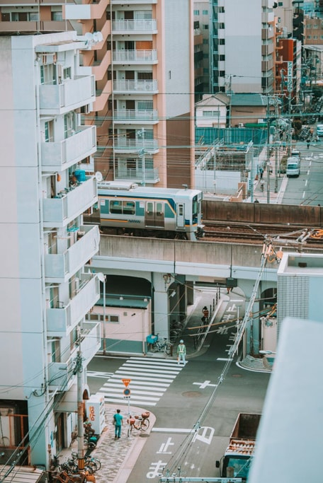 Train in Nishinari, Osaka